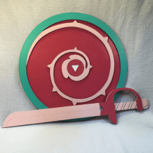 Rose Quartz Sword & Shield Set