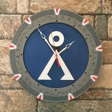 Stargate Silver Clock