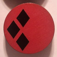 HarleyQuinn Black on Red Cuff Disk