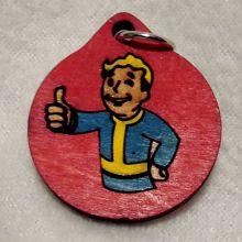Fallout Vault Boy Wood Necklace and Pendant