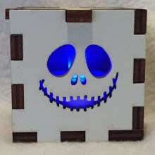 Jack Skeleton LED Gift Box blue