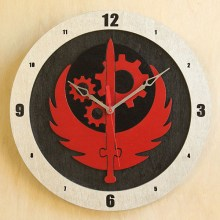 Brotherhood of Steel Black Build-A-Clock