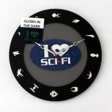 Sci-fi Enthusiast 12 disc 14 inch clock