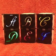 A through F Letter Tealights
