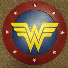 "14"" Kids Costume Size Wonder Woman Shield w/ optional backpack straps"