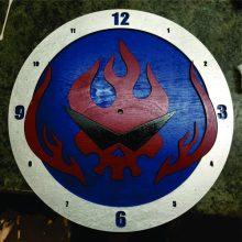 "Premade 14"" Wood Gurren Lagann Symbol Wall Clock"
