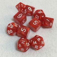 10 Red Premium Dice