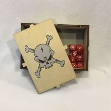 Dice Box Skull & Bones Open