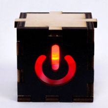 Power black LED Gift Box red