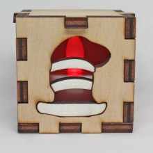 Dr. Seuss The Cat in the Hat Wood Lit Red LED Tea Light