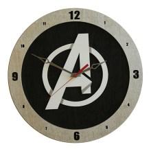 Avengers Clock on Black background