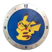 Pikachu Clock on Blue Background