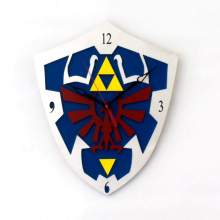 Hylian Shield Clock from Legend of Zelda