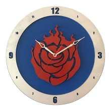 RWBY Clock on Blue Background
