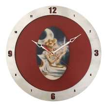 Sailor Moon Clock on Red Background