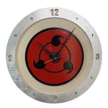 Sharingan Clock on Beige Background