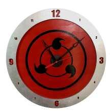 Sharingan Clock on Red Background