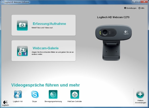 Windows7C270 Webcam Software