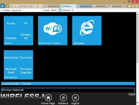 Etekcity Router mit WISP