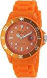 Madison New York Unisex-Armbanduhr Candy Time Silicon Analog orange U4167-04/2