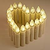 20stk LED Kerzen [Upgrade Version 2015 mit Timer, Fernbedienung und Batterien] Wasserdichte Dimmbar Kerzenlichter Flammenlose Weihnachtskerzen Lichterkette für Weihnachtsbaum, Weihnachtsdeko, Hochzeit, Geburtstags, Party