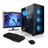 """Megaport Gaming Komplett PC AMD FX-6300 6x 3.50GHz • 22"""" Full-HD LED • Gaming Tastatur+Maus Set • nVidia GeForce GTX960 • 1TB HDD • 8 GB RAM 1600 • Windows 10 • DVD RW • WLAN"""