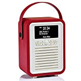 VQ (Vormals View Quest) Retro Mini DAB+ Radio mit Bluetooth-Lautsprecher - Rot