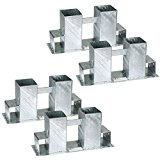 TecTake Stapelhilfe für Kaminholz Brennholz Holzstapelhilfe | feuerverzinkter Stahl | variabel anwendbar - diverse Mengen- (4er Set | Nr. 402521)