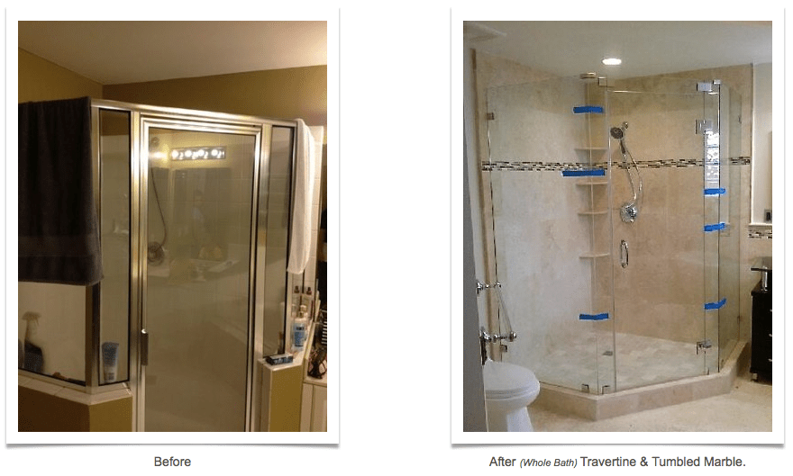 Shower Before And After Allure Bathroom Remodeling