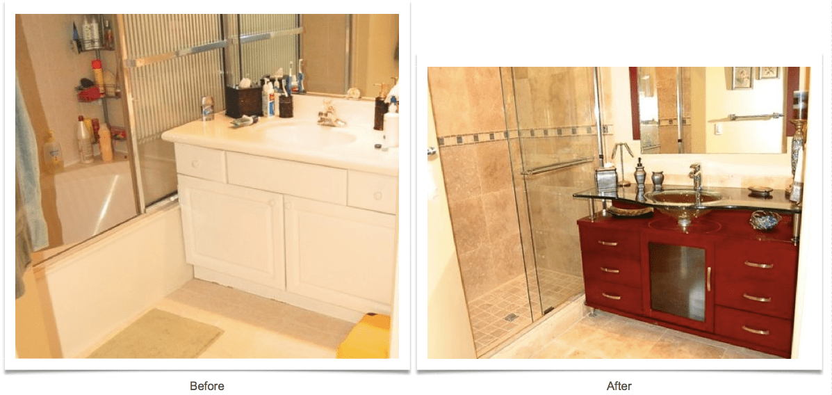 Vanities Before And After Photos Allure Bathroom Remodeling