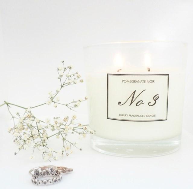 Aldi No 3 Pomegranate Noir Luxury Fragranced Candle Review