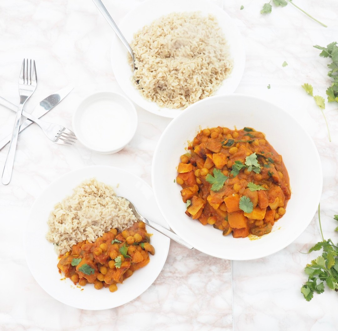Chickpea & Butternut Squash Curry Recipe
