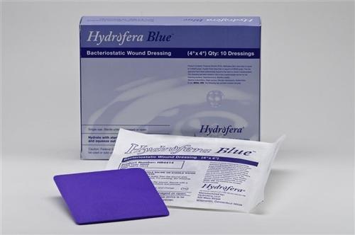 "Hydrofera Blue Classic Foam Dressing 4""x 4"" - 10ea/bx"