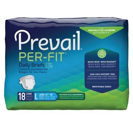 Prevail Per-Fit Briefs Large - 18ea/pk 4pk/CS