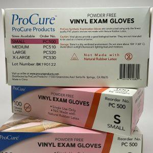 Gloves, Vinyl, Exam, PF, Small, 100ea/bx 10bx/cs
