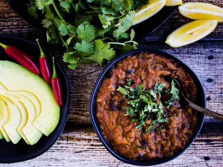 Pumpkin Black Bean Chili Recipe | The Gluten-Free Instant Pot Cookbook