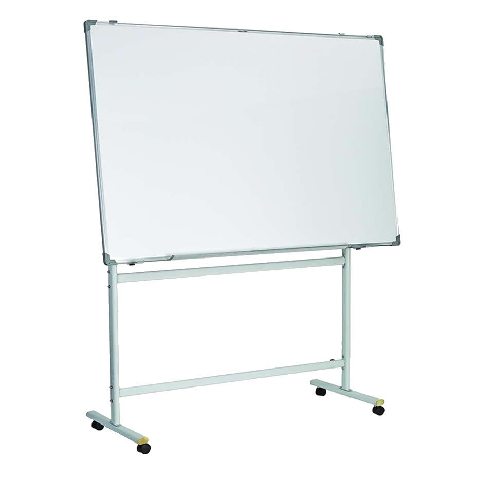 Porcelain Steel Surfaces Mobile Reversible Whiteboard