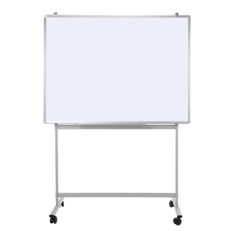 Silver Aluminum Frame Enamel Mobile Magnetic Whiteboard