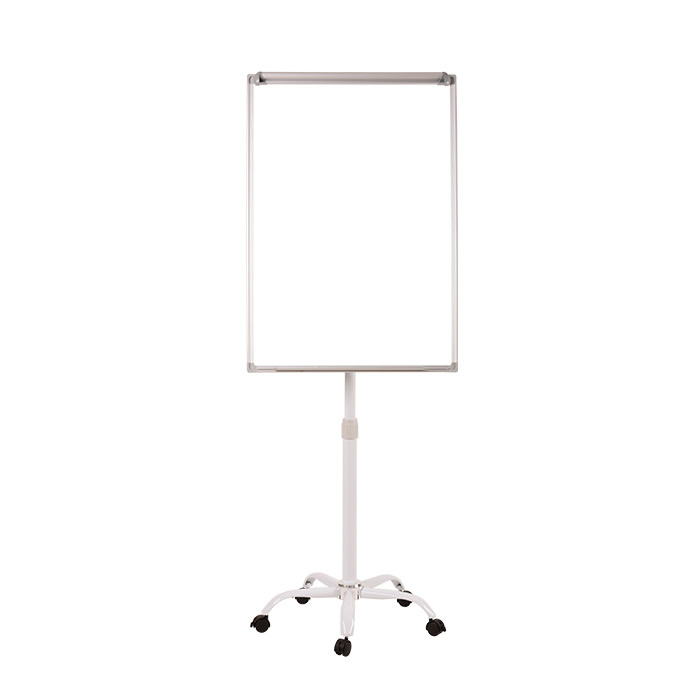 Height Adjustable Flipchart with Five Wheels