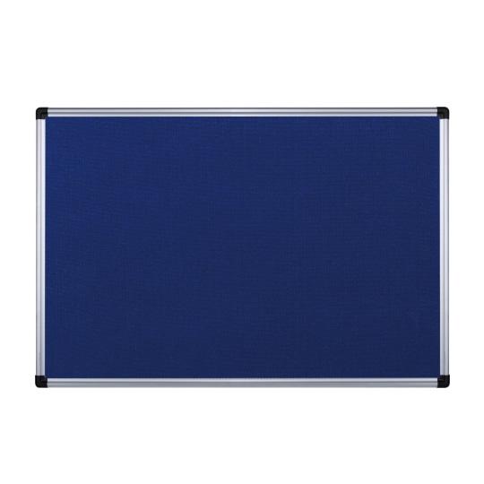Galvanized Sheet and Aluminum Trim Felt Memo Board Blue