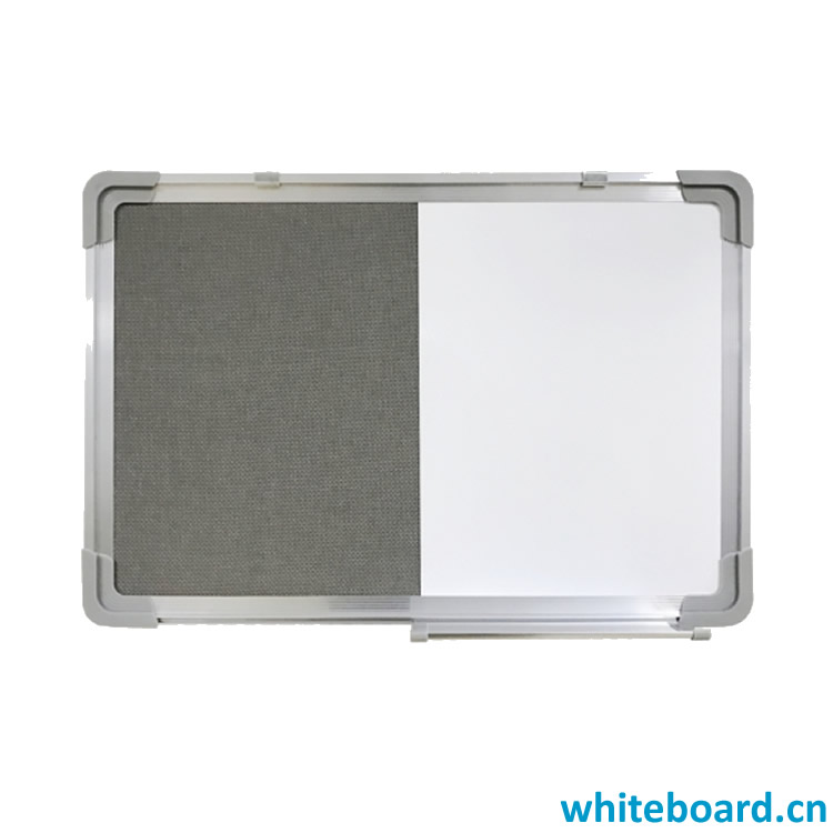 Whiteboard Felt Pin Board Combination with Marker Pen Tray & Hangers