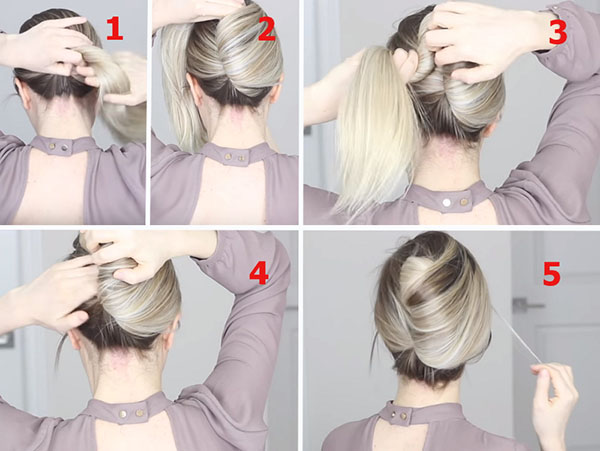 Стильные пучки для средних и длинных волос: 3 классных варианта