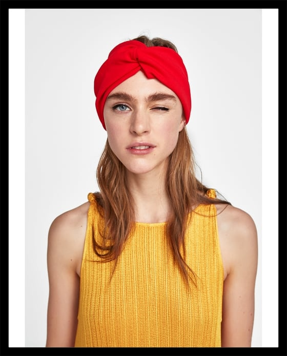 Zara headband red