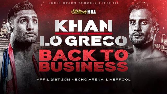 Watch Amir Khan vs Phil Lo Greco 4/21/2017 Full Fight Online Free