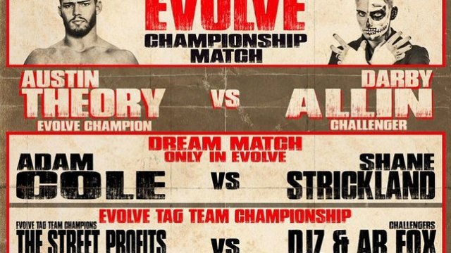 Watch Evolve Wrestling 121 iPPV 2/15/2019 Full Show Online Free