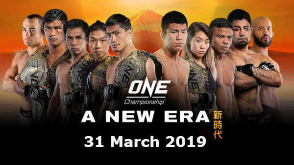 Watch ONE Championship: A New Era 3/31/2019 Full Show Online Free