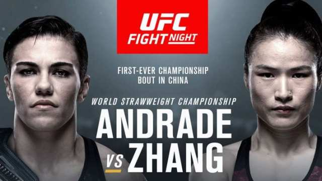 Watch UFC Fight Night 157: Andrade vs. Zhang 8/31/2019 Full Show Online Free