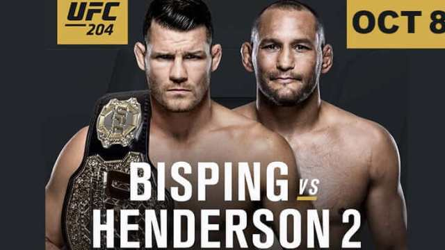 Watch UFC 204: Bisping vs. Henderson 2 10/8/2016 Full Show Online Free