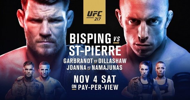 Watch UFC 217: Bisping vs. St-Pierre 11/4/2017 PPV Full Show Online Free