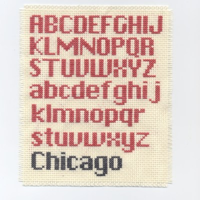 Chicago: Cross Stitch Font Project